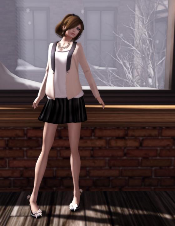 Even flow basic black skirt at acid Lily