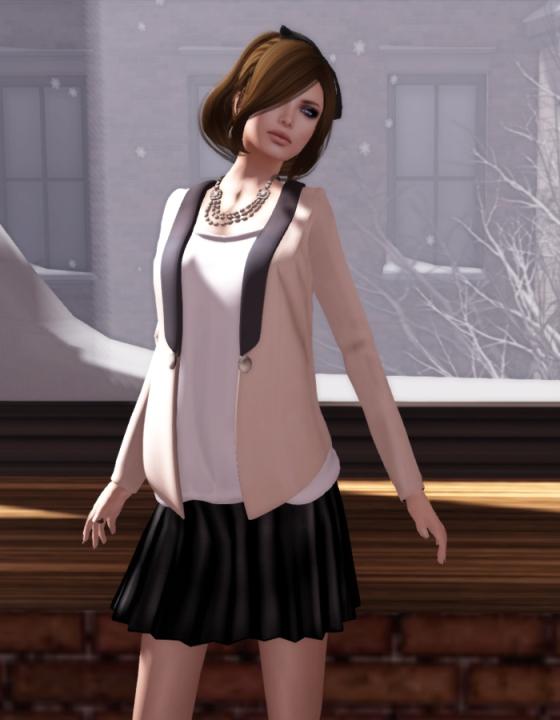 Even flow basic black skirt close up