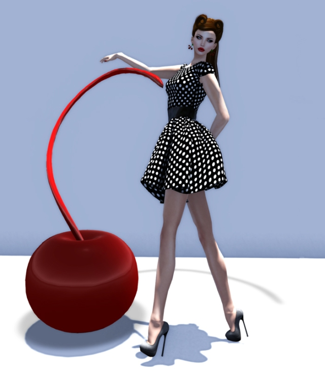 SS Mesh Retro Polka Dots for Acid Lily