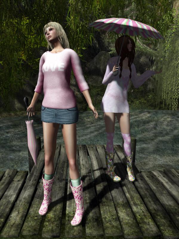 Lavanda Spring Rain Boots