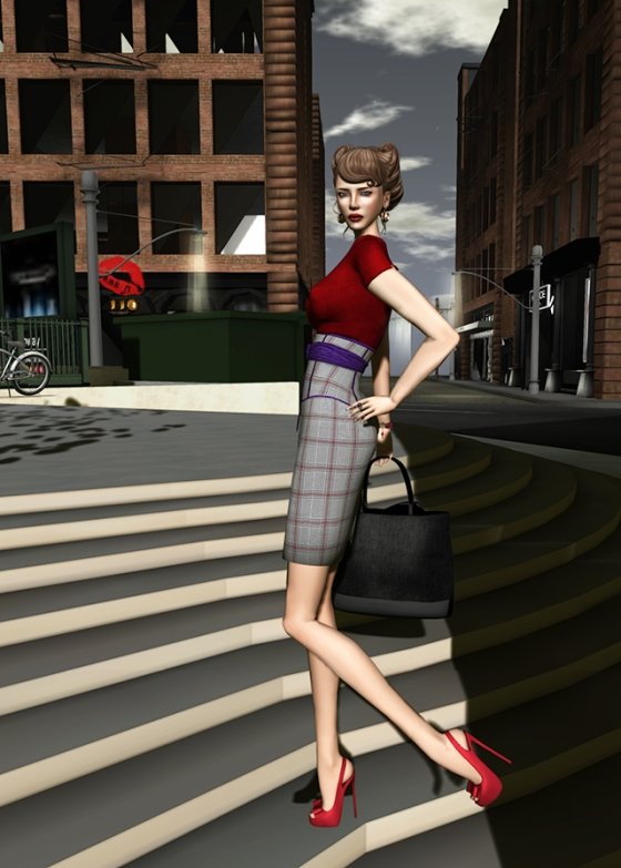 Prism Design's Marilyn Sweater and Skirt  adds curves.