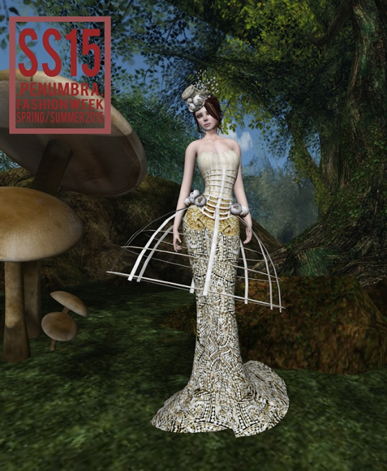 Jumo Mademoiselle Gown in Gold Penumbra Fashion Week SS15